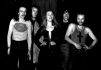 An early shot of the third lineup. From left: Mick Sluman, Stan Land, Jill Saward, Dave Bell and Colin Dawson.