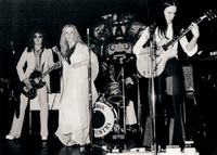 The band's final line-up, from left: Paul Jennings, Jill Saward, Dave Bell and Alan Murphy, who replaced Colin Dawson on lead guitar. This incarnation of the  band would play just 25 gigs before finally splitting in 1975.