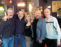Some of the old band members still get together from time to time. This shot was taken at a reunion about two years ago, at The Gun Tavern in Croydon, where the band played several gigs in the 1970s. From left: Dave Bell, Mick Sluman, Jill Saward, Colin Dawson and Stan Land.
